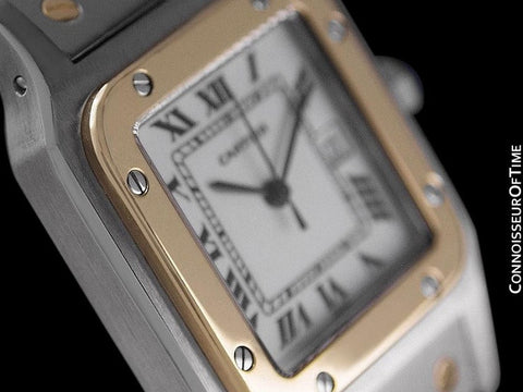 Cartier Mens Santos Galbee Automatique - 18K Gold & Stainless Steel
