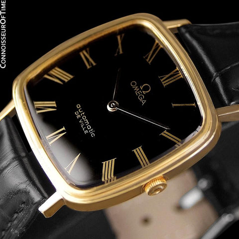 1974 Omega De Ville Mens Automatic Dress Watch - 18K Gold Plated Stainless Steel