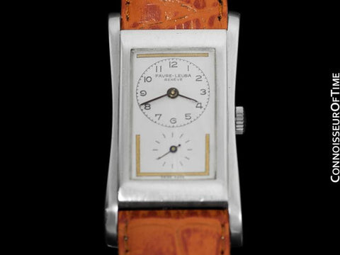 1930's Swiss Favre-Leuba Prince Brancard (Rolex) Style Mens Vintage Silver Watch - Doctor's Watch