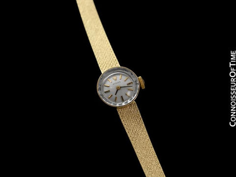 1980's Rolex Vintage Ladies Bracelet Dress Watch - 14K Gold