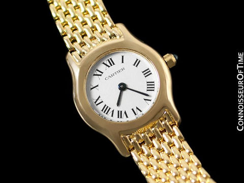 Cartier Victoria Ladies Mini Quartz Bracelet Watch - Solid 18K Gold