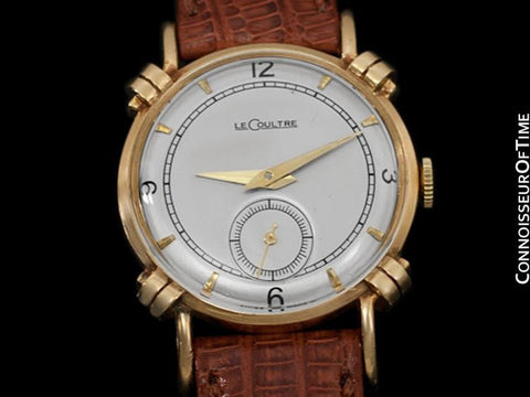 1949 Jaeger-LeCoultre Vintage Mens Midsize Watch, Beautiful Case - 14K Gold