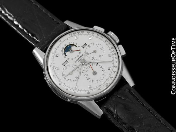 1945 Universal Geneve Tri-Compax Mens Vintage Chronograph Triple Calendar with Moon Phase