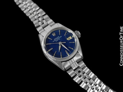 Rolex Ladies Vintage Date Datejust Watch, Navy Blue Dial - Stainless Steel & 18K White Gold