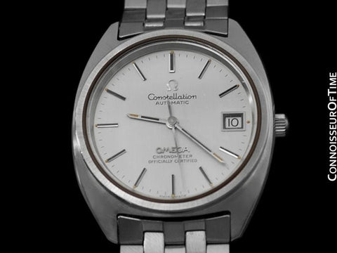 1973 Omega Constellation Vintage Mens Watch,  Automatic, Date - Stainless Steel