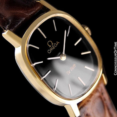 1978 Omega De Ville Vintage Ladies Watch - 18K Gold Plated & Stainless Steel