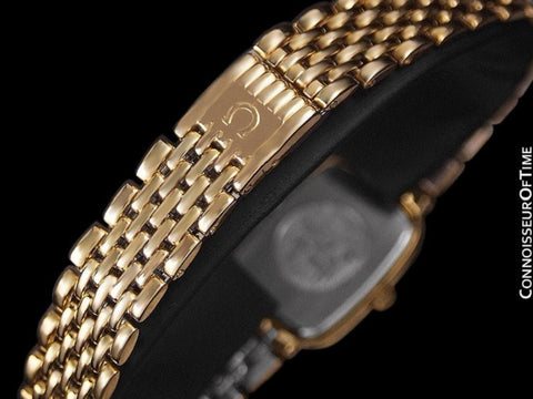 Omega De Ville Ladies Bracelet Dress Watch - 18K Gold Plated