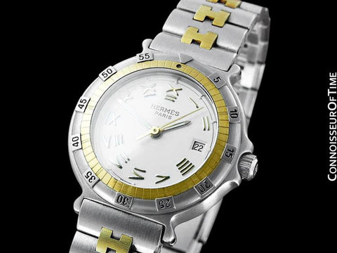 Hermes Ladies Captain Nemo Quartz Divers Watch - Stainless Steel & 18K Gold Plated