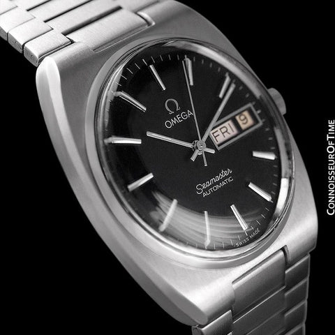 1978 Omega Seamaster Vintage Mens Bracelet Watch, Automatic, Day Date - Stainless Steel