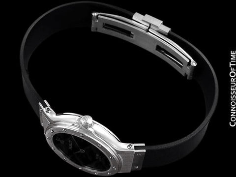 Hublot MDM Ladies Rubber Bracelet Watch - Stainless Steel