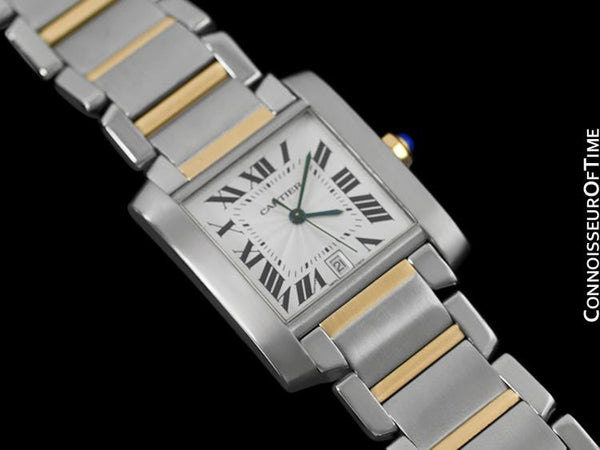 Cartier Tank Francaise Mens Large Size, Automatic - Stainless Steel & 18K Gold - W51005Q4
