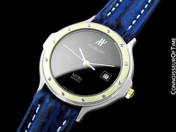 Hublot MDM Ladies Watch with Date - Stainless Steel & 18K Gold