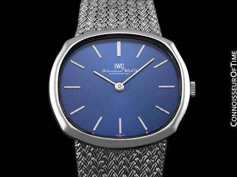 1974 IWC Vintage Mens Dress Watch with Bracelet, Caliber 423 - Stainless Steel
