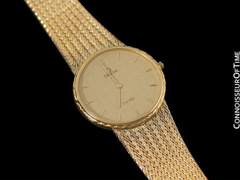 1985 Omega De Ville Vintage Mens Dress Watch - 18K Gold Plated and Stainless Steel