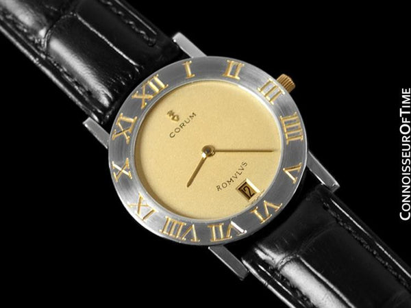 Corum Romvlvs Romulus Mens Dress Watch - Stainless Steel and 18K Gold