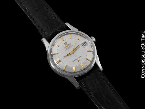 1960 Omega Vintage Mens Pie Pan Dial Constellation, Automatic, Date - Stainless Steel & 18K Gold