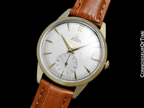1956 Omega Vintage Mens Classic Mid Century Dress Watch, Automatic - 14K Gold Filled