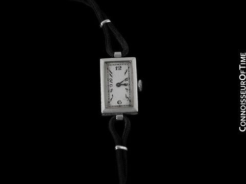 1937 Cresarrow Vintage Art Deco Ladies Watch - Platinum