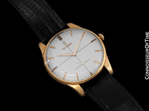 1961 Omega Vintage Mens 30T2 Based Dress Watch, Large Size - 14K Rose Gold