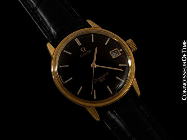 1972 Omega Seamaster Vintage Mens Handwound Watch - 18K Gold Plated & Stainless Steel