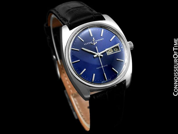 1960's Ulysse Nardin Vintage Mens Automatic Day Date Watch - Stainless Steel