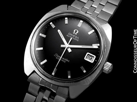 1960's Omega Vintage Mens Seamaster Cosmic Retro Watch, Date, Auto - Stainless Steel
