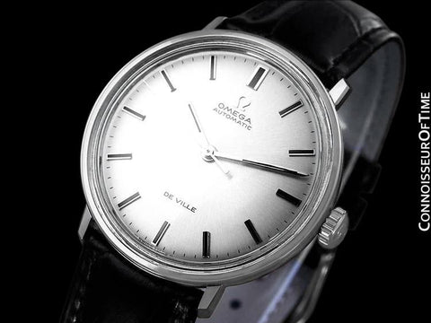 1960's Omega De Ville Full Size Mens Automatic Watch - Stainless Steel