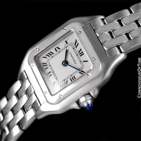 Cartier Panthere Panther Ladies Watch, Ref. 1320 - Stainless Steel - W25033P5