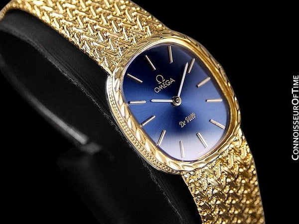 1980's Omega De Ville Vintage Ladies Handwound Dress Watch - 18K Gold Plated and Stainless Steel