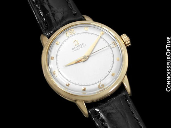 1953 Omega Vintage Mens Mid Century Automatic Watch - 14K Gold