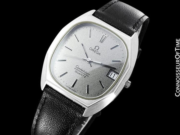1970's Omega Constellation Chronometer Cool Vintage Mens Quartz Watch - Stainless Steel