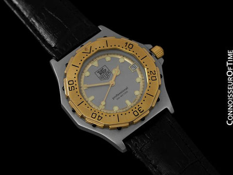 Tag Heuer 3000 Mens Full Size Quartz Divers Watch, 934.206 - Stainless Steel & 18K Gold Plated