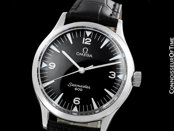 1962 Omega Vintage Mens Handwound Watch with Seamaster Style Dial - Stainless Steel