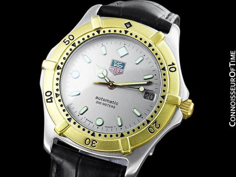 Tag Heuer 2000 Automatic Mens Diver Watch, 665.006F - Stainless Steel & 18K Gold Plated