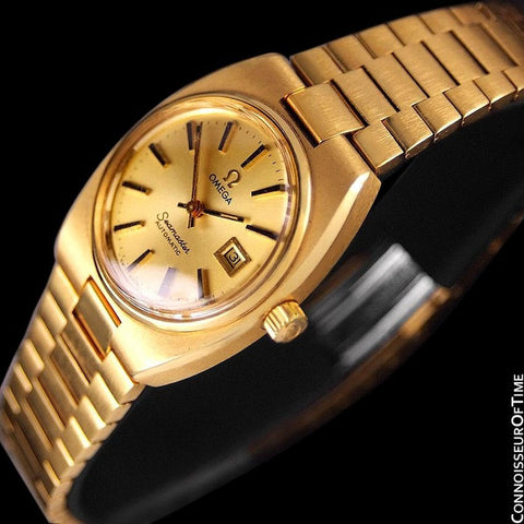 1979 Omega Seamaster Vintage Ladies Automatic Watch - 18K Gold Plated & Stainless Steel