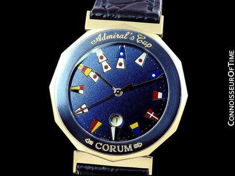 Corum Admiral's Cup Mens Nautical Watch - Solid 18K Gold & Ceramic