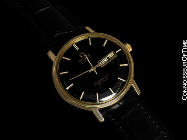 1978 Omega Seamaster De Ville Classic Vintage Mens Watch, 10K Gold Filled - Rare Pie Pan Dial
