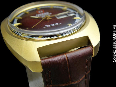 1973 Omega Geneve Chronometer f300 Hz Accutron Large Vintage Mens - 18K Gold Plated & Stainless Steel