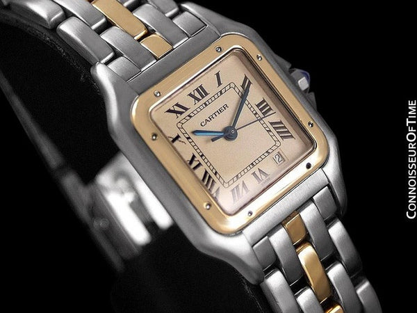 Cartier Panthere Two-Tone Mens Midsize / Unisex Watch, Date - Stainless Steel & 18K Gold - W25028B5