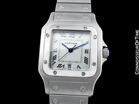 Cartier Santos Galbee Mens Watch with Date - Stainless Steel