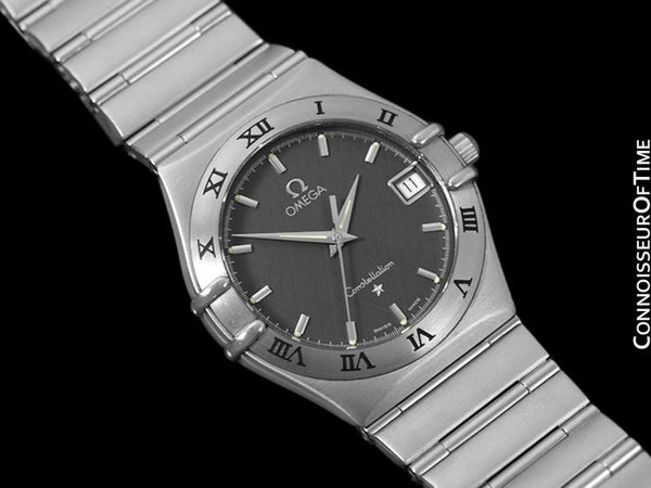 Omega Constellation Mens Bracelet Watch, Gray Dial - Brushed Stainless Steel