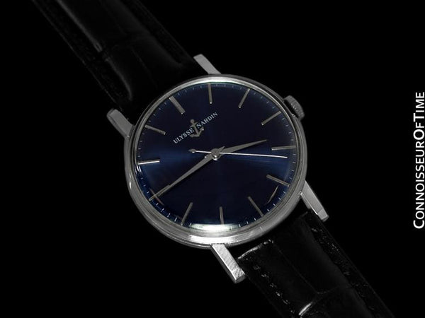 1950's Ulysse Nardin Vintage Mens Full Size Handwound Watch - Stainless Steel