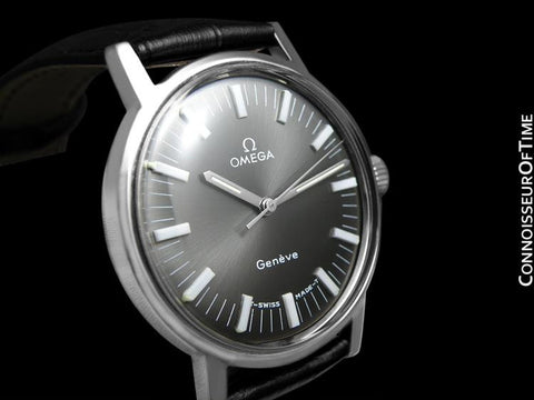 1971 Omega Geneve Vintage Mens Waterproof Style - Stainless Steel
