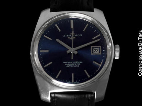 1960's Ulysse Nardin Vintage Mens Automatic Date Watch, Stainless Steel - Officially Certified Chronometer
