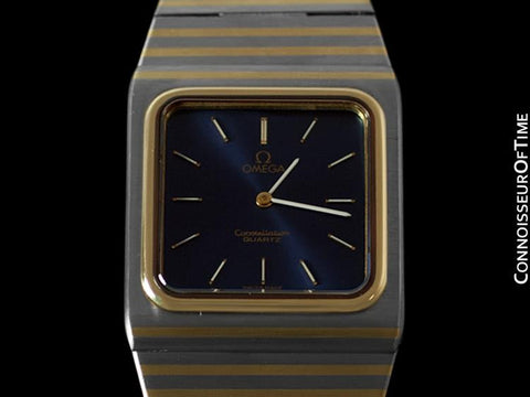 Omega Constellation Mens Bracelet Watch - Stainless Steel & 14K Gold Inlay - Rare Model