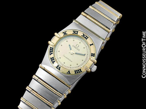 Omega Ladies Constellation Mini 22mm Watch, 18K Gold & Stainless Steel