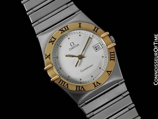 Omega Constellation Mens 35mm Watch, Quartz, Date - Brushed Stainless Steel & 18K Gold
