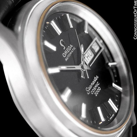 1970's Omega Seamaster Cosmic 2000 Vintage Mens Dive Watch, Automatic, Day Date - Stainless Steel