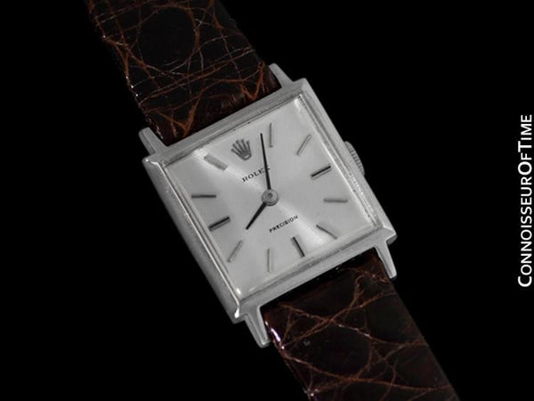 1974 Rolex Precision Ladies Vintage Pre-Cellini Dress Watch, Silver Dial - Stainless Steel