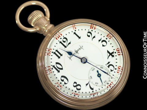 1906 Illinois Railroad 18 size Gold Filled Pocket Watch - (23J) 24J Bunn Special